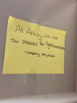 """""""At Arkay, we use our asses for righteousness"""" -- company motto"""